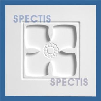 """CR106 5 1/2"""" Square Decorative Rosette"""