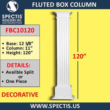 "FBC10120 Fluted Box Column 11"" x 120"""