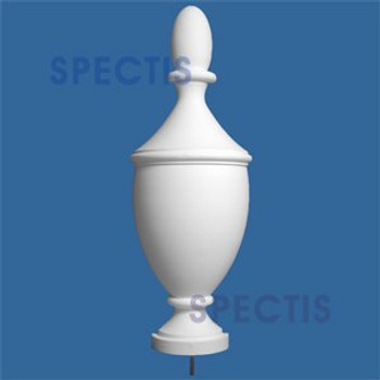 """FIN116 Urn Style Finial Top 9-1/4"""" x 41-1/2"""""""