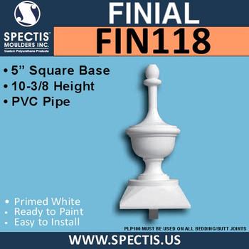 "FIN118 Spectis Urethane Finial 5"" x 10-3/8"""
