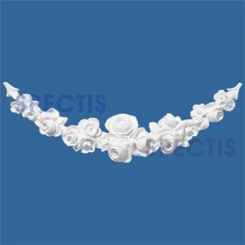 "FT3404 26 7/8"" x 7 3/8"" Groups of Roses Urethane Festoon"