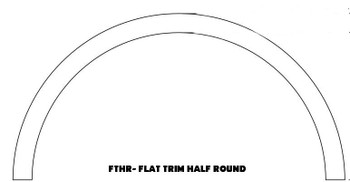 "FTHR3-27 Half Round Flat Trim 54"" W x 30 1/2"" H"