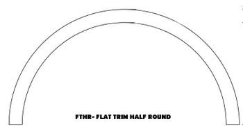 "FTHR3-41 Flat Half Round Trim 96"" W x 41"" H"