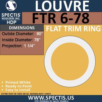 "FTR6-78 Round Flat Trim 78"" Center Hole"