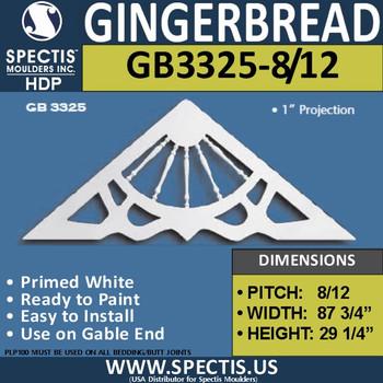 "GB3325-8-12 Gingerbread Gable Trim 87 3/4""W X 29 1/4""H"