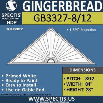 "GB3327-8/12 Gingerbread Gable Trim 84""W x 28""H"