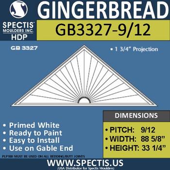 "GB3327-9/12 Gingerbread Gable Trim 88 5/8""W x 33 1/2""H"