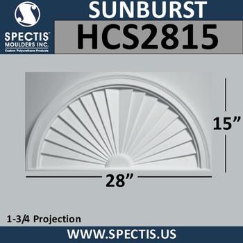 HCS2815 Half Circle Urethane Sunburst 28 x 15