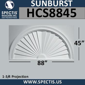 HCS8845 Half Circle Sunburst 88 x 45