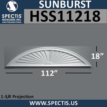 HSS11218 Urethane Sunburst 112 x 18