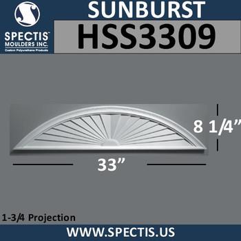 "HSS3309 Urethane Sunburst 33"" x 8.75"""