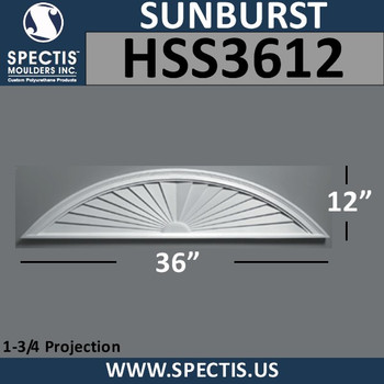 HSS3612 Urethane Sunburst 36 x 12