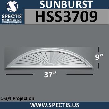 HSS3709 Urethane Sunburst 37 x 9