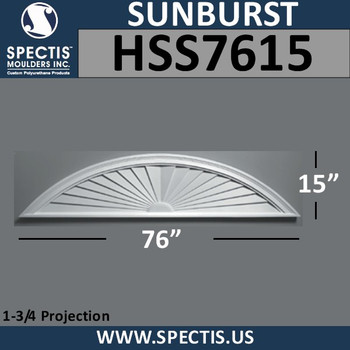 HSS7615 Urethane Sunburst 76 x 15