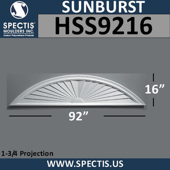 HSS9216 Urethane Sunburst 92 x 16
