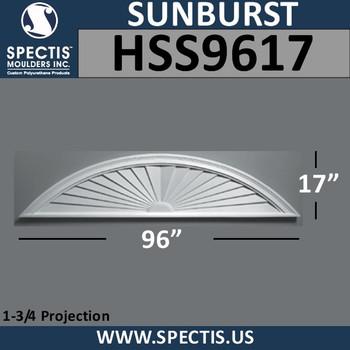 HSS9617 Urethane Sunburst  96 x 17