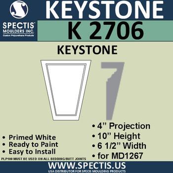 """K2706 Spectis Urethane Keystone 4""""P X 10""""H X 6 1/2""""W"""