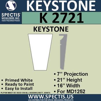 """K2721 Spectis Urethane Keystone 7""""P X 21""""H X 16""""W"""