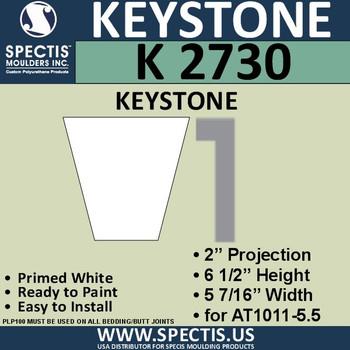 """K2730 Spectis Urethane Keystone 2""""P X 6 1/2""""H X 5 7/16""""W"""