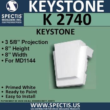 """K2740 Spectis Urethane Keystone 3 5/8""""P X 8""""H X 8""""W"""