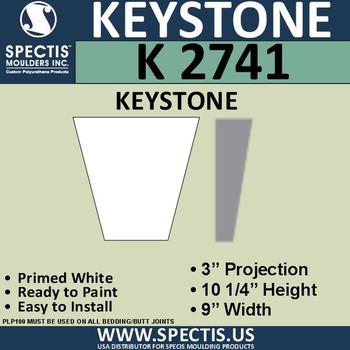 """K2741 Spectis Urethane Keystone 3""""P X 10 1/4""""H X 9""""W"""