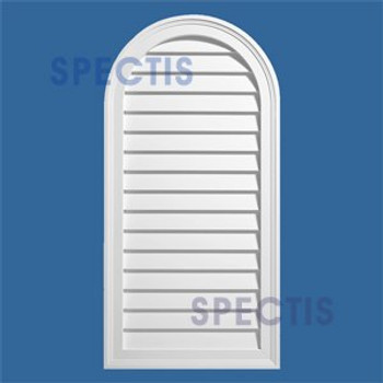 LCA4284 Urethane Louvre Closed Arched Top 42 x 84