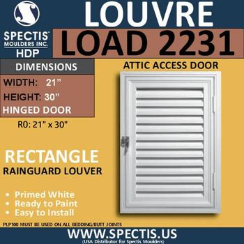 LOAD2231 Attic Access Door Open Louver 22 x 31