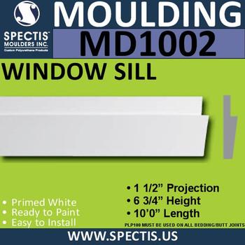 """MD1002 Window Sill Trim 1 1/2""""P x 6 3/4""""H x 120""""L"""