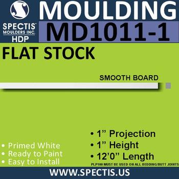 """MD1011-1 Spectis 1"""" Flat Trim MD1011-1 - 1""""P x 1""""H x 144""""L"""