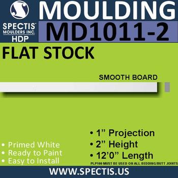 """MD1011-2 Spectis 1"""" Flat Trim MD1011-2 - 1""""P x 2""""H x 144""""L"""