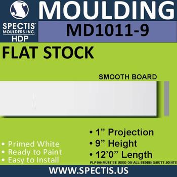 """MD1011-9 Spectis 1"""" Flat Trim 1""""P x 9""""H x 144""""L"""
