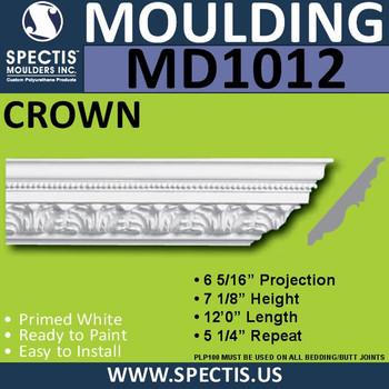 """MD1012 Spectis Crown Molding Trim 4 3/16""""P x 4 3/16""""H x 144""""L"""