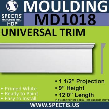 """MD1018 Spectis Molding Head Trim 1 1/2""""P x 9""""H x 144""""L"""