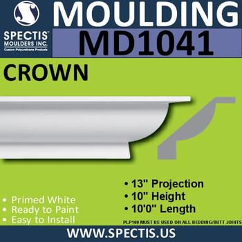 """MD1041 Spectis Crown Molding Trim 13""""P x 10""""H x 120""""L"""
