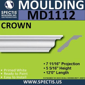 """MD1112 Spectis Crown Molding 7 11/16""""P x 5 5/16""""H x 144""""L"""