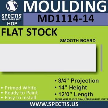 """MD1114-14 Spectis 3/4"""" Flat Trim 3/4""""P x 14""""H x 144""""L"""