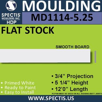 "MD1114-5.25 Spectis 3/4"" Flat Stock 3/4""P x 5 1/4""H x 144""L"