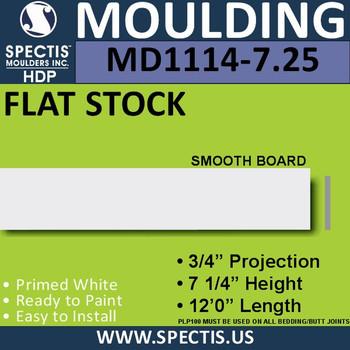 """MD1114-7.25 Spectis 3/4"""" Flat Trim 3/4""""P x 7 1/4""""H x 144""""L"""