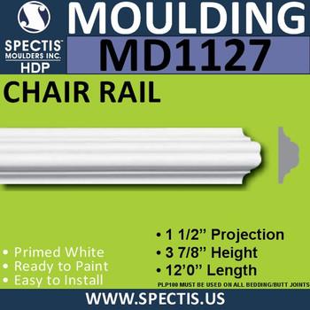 "MD1127 Spectis Molding Nose Trim 1 1/2""P x 3 7/8""H x 144""L"