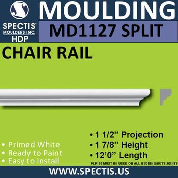 "MD1127 SPLIT Spectis Molding Half Nose 1 1/2""P x 1 7/8""H x 144""L"
