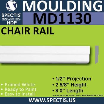 """MD1130 Spectis Molding Case Trim 1/2""""P x 2 5/8""""H x 96""""L"""