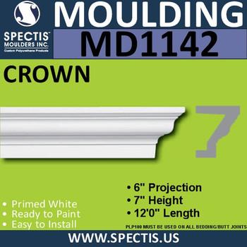 """MD1142 Spectis Crown Molding Trim 6""""P x 7""""H x 144""""L"""
