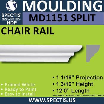 """MD1151 SPLIT Spectis Half Nose Trim 1 1/16""""P x 1 3/16""""H x 144""""L"""