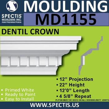 """MD1155 Spectis Crown Molding Trim 12""""P x 22""""H x 144""""L"""