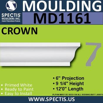 """MD1161 Spectis Crown Molding Trim 6""""P x 9 1/4""""H x 144""""L"""