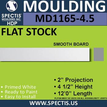 """MD1165-4.5 Spectis 2"""" Flat Trim 2""""P x 4 1/2""""H x 144""""L"""