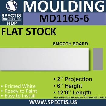 """MD1165-6 Spectis 2"""" Flat Trim 2""""P x 6""""H x 144""""L"""