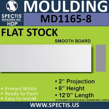 """MD1165-8 Spectis 2"""" Flat Trim 2""""P x 8""""H x 144""""L"""