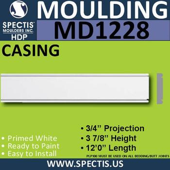 """MD1228 Spectis Molding Case Trim 3/4""""P x 3 7/8""""H x 144""""L"""