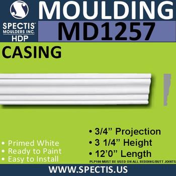 """MD1257 Spectis Molding Case Trim 3/4""""P x 3 1/4""""H x 144""""L"""